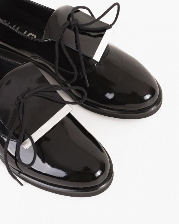 Czarne półbuty damskie lakierowane  049 -902-CZAR-LA