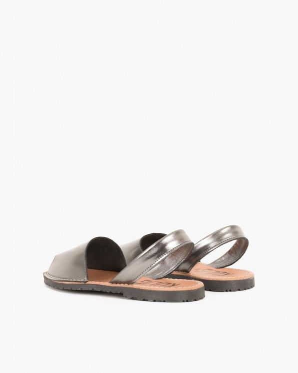 Srebrne sandały skórzane  009 -102-ANTRACY