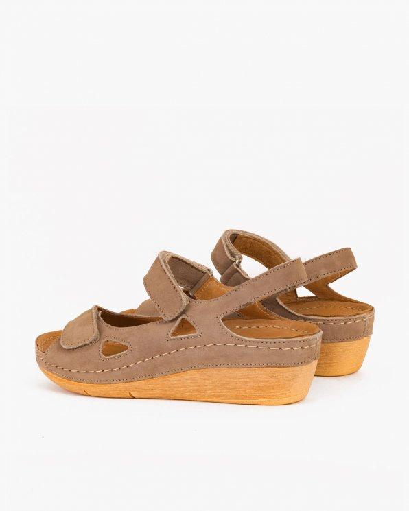 Beżowe sandały skórzane  043 -964-TOUPE