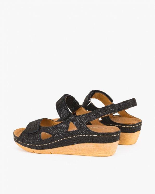 Czarne sandały skórzane  043 -964-CZARNY