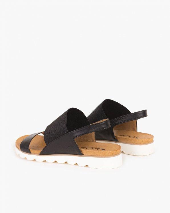 Czarne sandały skórzane  005 -56171-CZARN