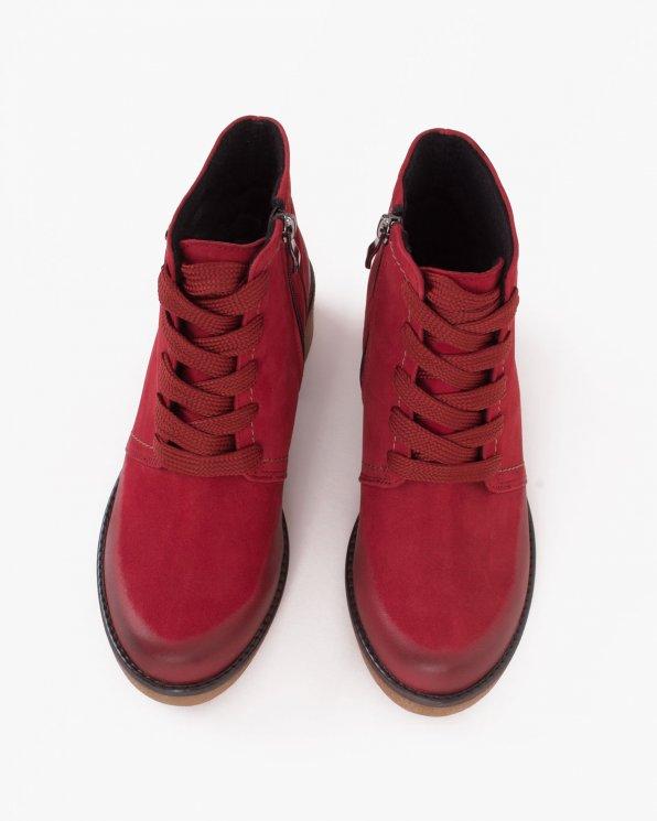 Czerwone trzewiki damskie nubukowe  058 -4513-CZER-N