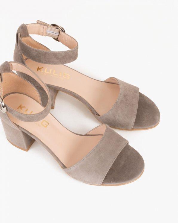 Beżowe sandały welurowe  024 -9407-8131