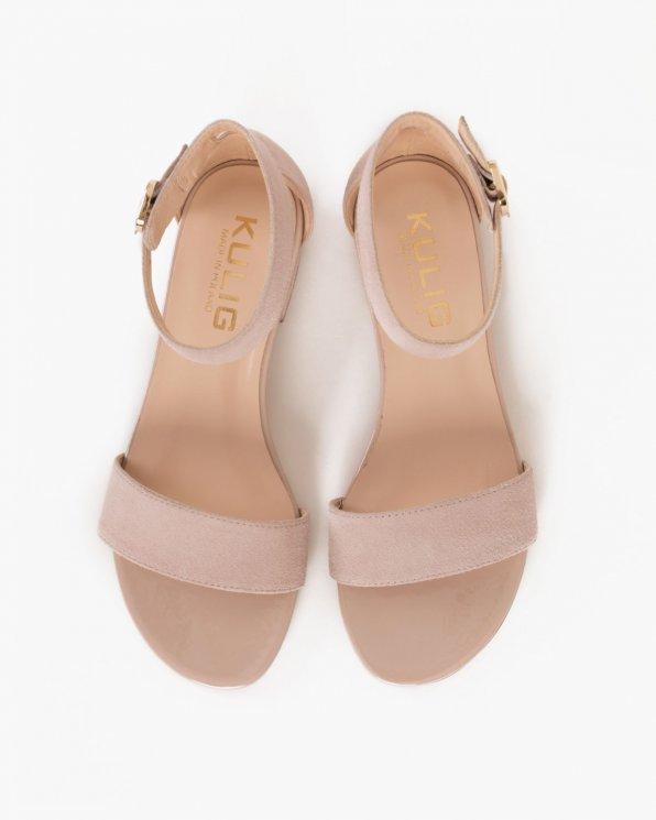 Beżowe sandały welurowe  024 -4905-041
