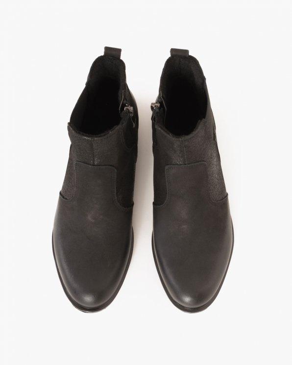 Czarne botki nubukowe  043 -734-CZAR-R