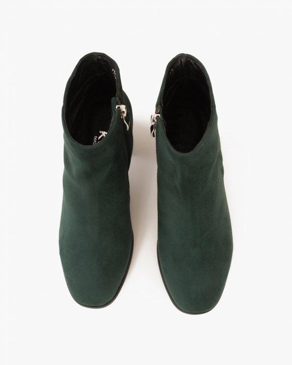 Zielone botki welurowe  061 -40210Z-ZIEL