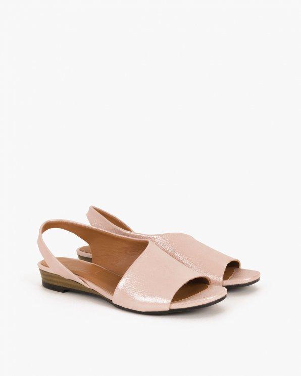 Pudrowe sandały skórzane  078 1453-PUDER