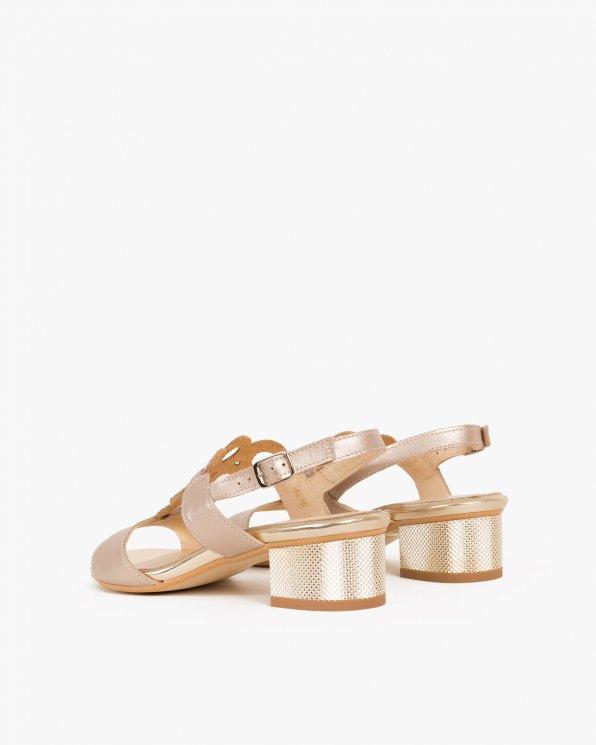 Złote sandały skórzane  058 2763-S9