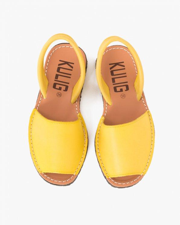 Żółte sandały skórzane  009 -102-LIMON