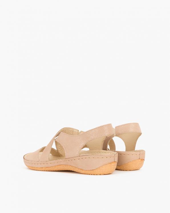 Beżowe sandały skórzane  043 -944-BEŻ -NU