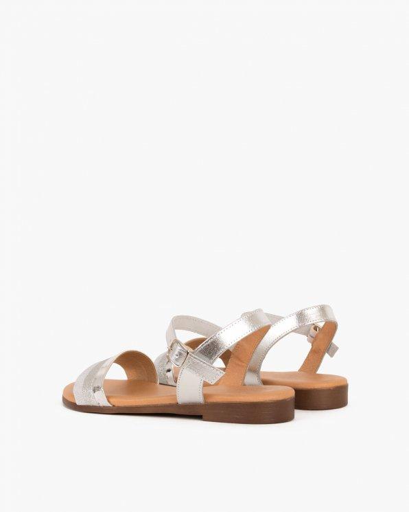 Srebrne sandały skórzane  009 6919-PLATA