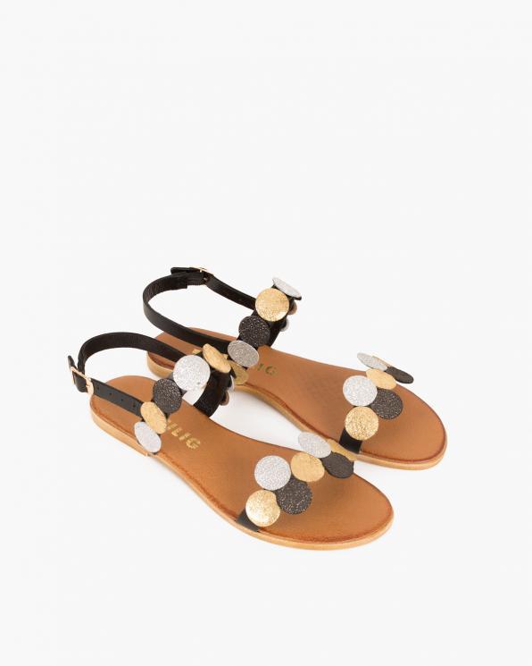 Czarne sandały skórzane  018 8491-CZARNE