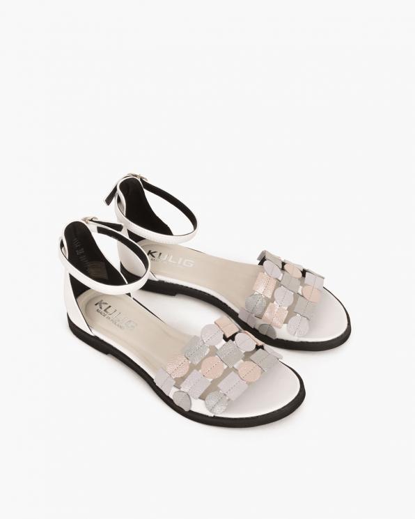 Białe sandały skórzane  005 45591-BIAŁY