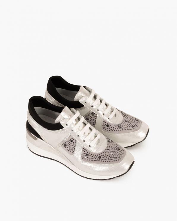 Białe sneakersy nubukowe  080 101-BIAŁE