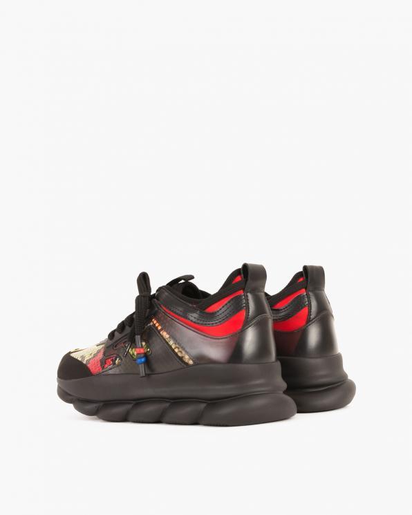 Czarne sneakersy z motywem  083 M071-19CZARN