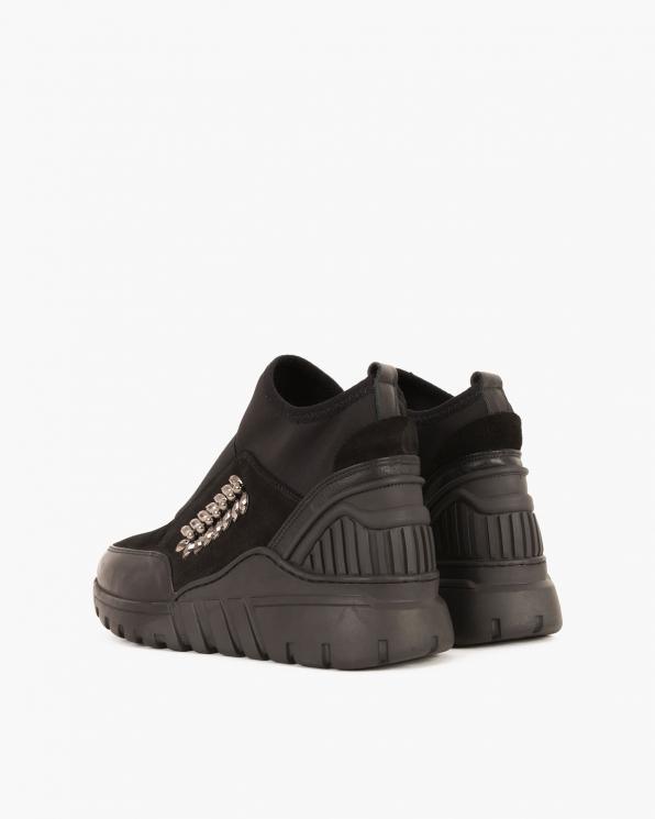 Czarne sneakersy skórzane  084 0591 CZARNY