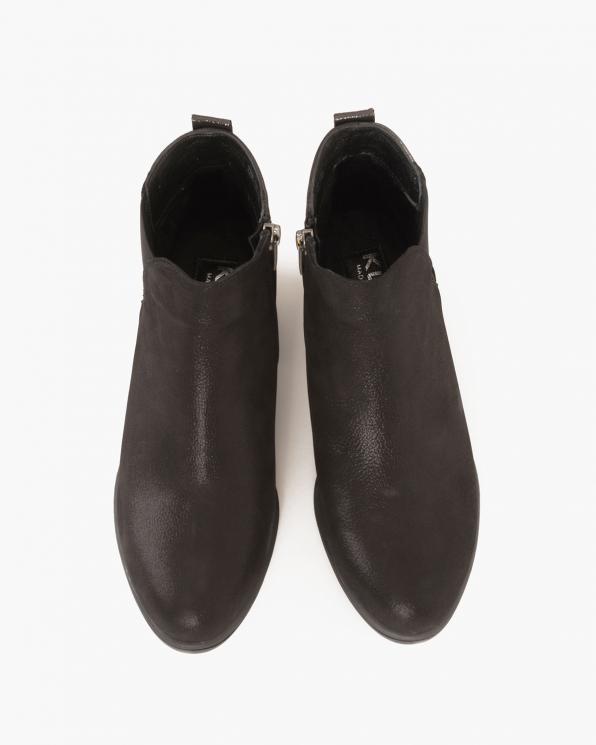 Czarne botki nubukowe  086 3208 NUB CZA