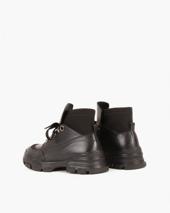 Czarne sneakersy skórzane  079 8169-CZARNY