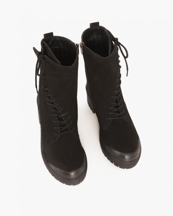 Czarne botki nubukowe  079 507-CZARNY