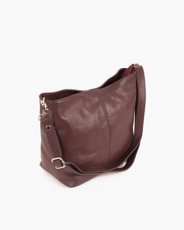 Bordowa torebka damska skórzana  027 211 BORDO