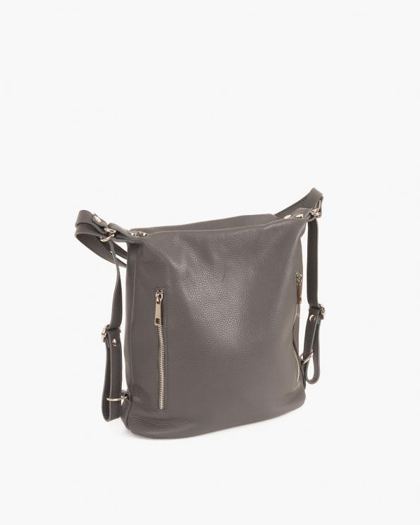 Szary plecak damski skórzany  027 B 22 SZARY