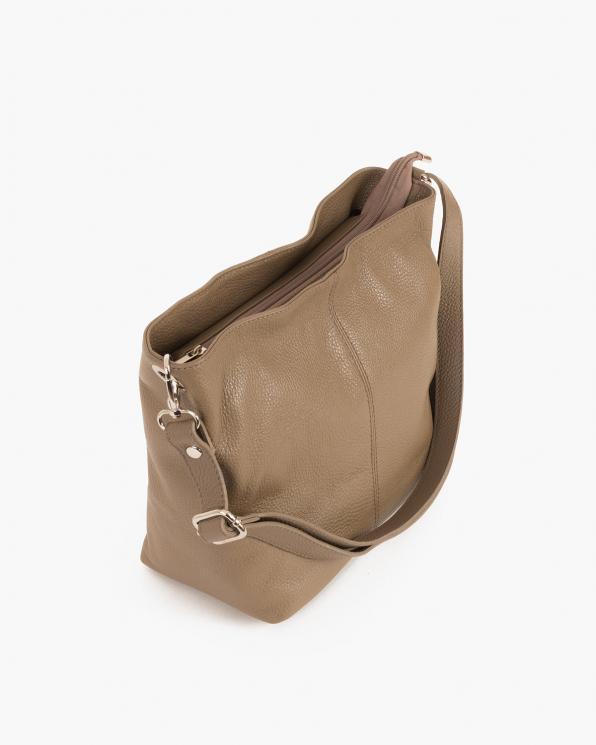 Beżowa torebka damska skórzana  027 211 C.BEZ