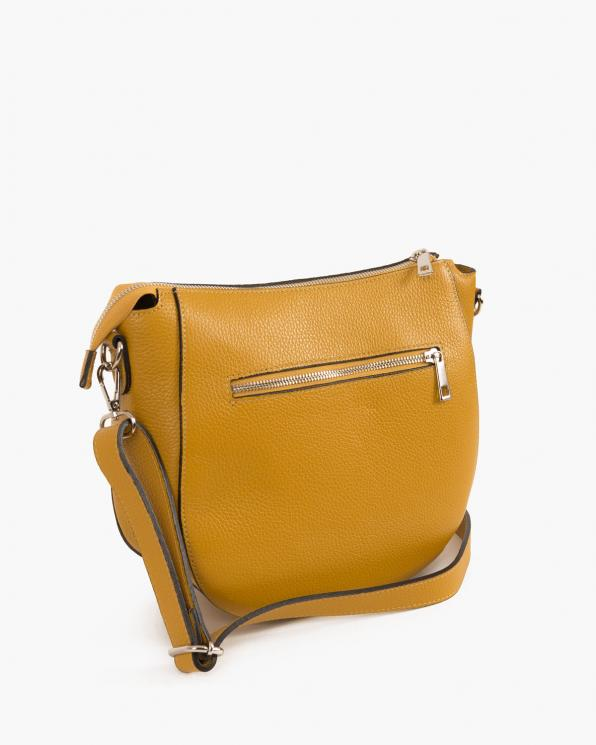 Żółta torebka damska skórzana  027 B 80 ŻÓŁTY