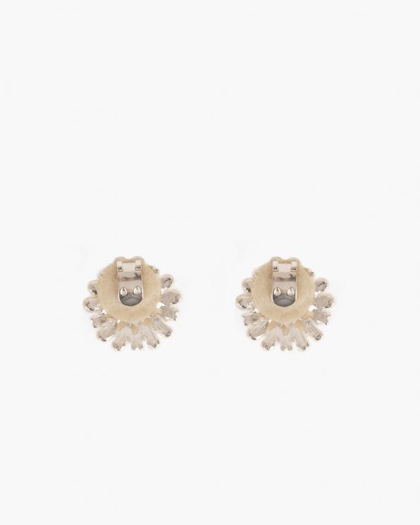 Srebrne klipsy do butów z perełkami  COQ-807