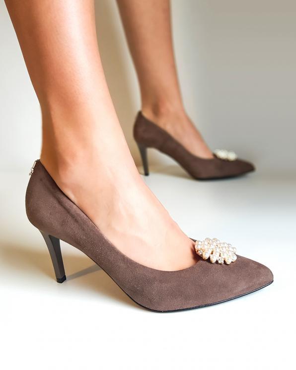Złote klipsy do butów z perełkami  COQ-806