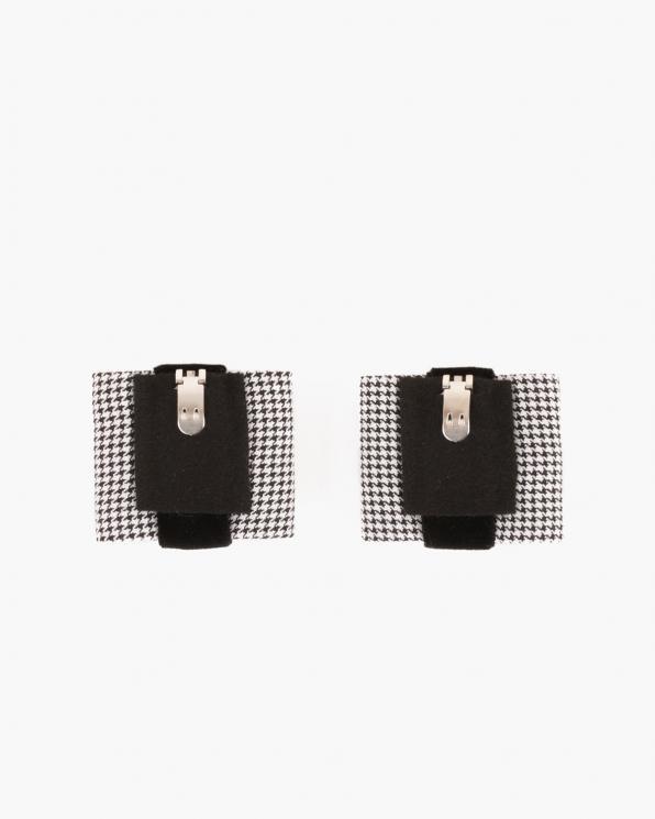 Czarno-białe klipsy do butów z motywem  COQ-1061
