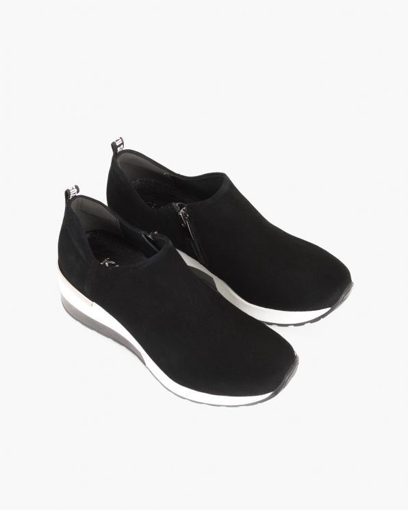 Czarne sneakersy welurowe  092-831-CZARNY