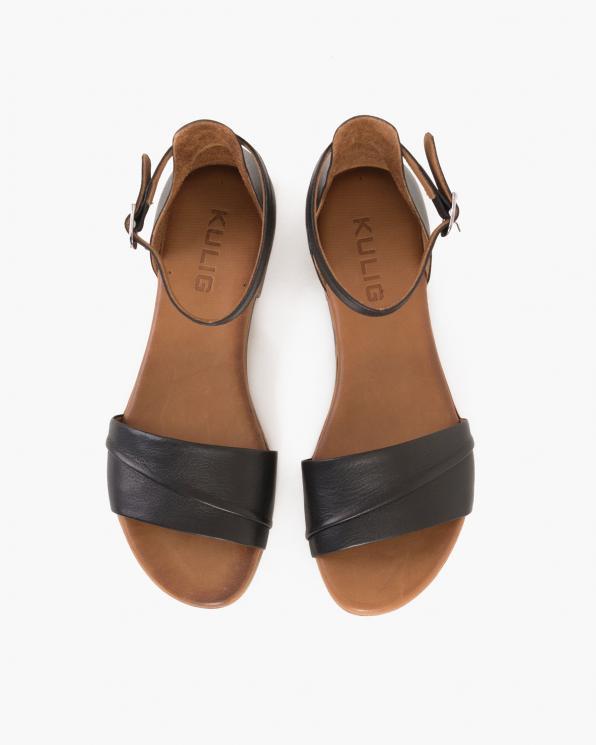 Czarne sandały damskie skórzane  078-2210-CZARNY