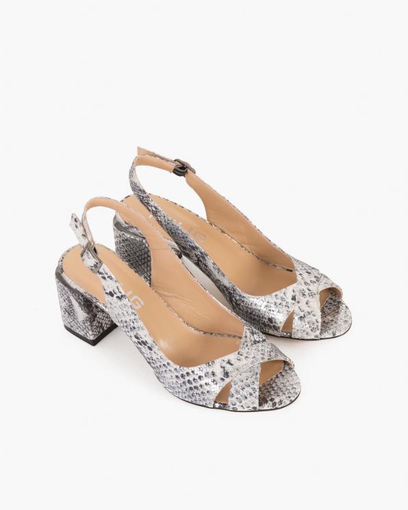 Wielokolorowe sandały damskie nubukowe z motywem  101-477-231