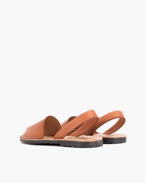 Brązowe sandały skórzane  009-102-CUERO