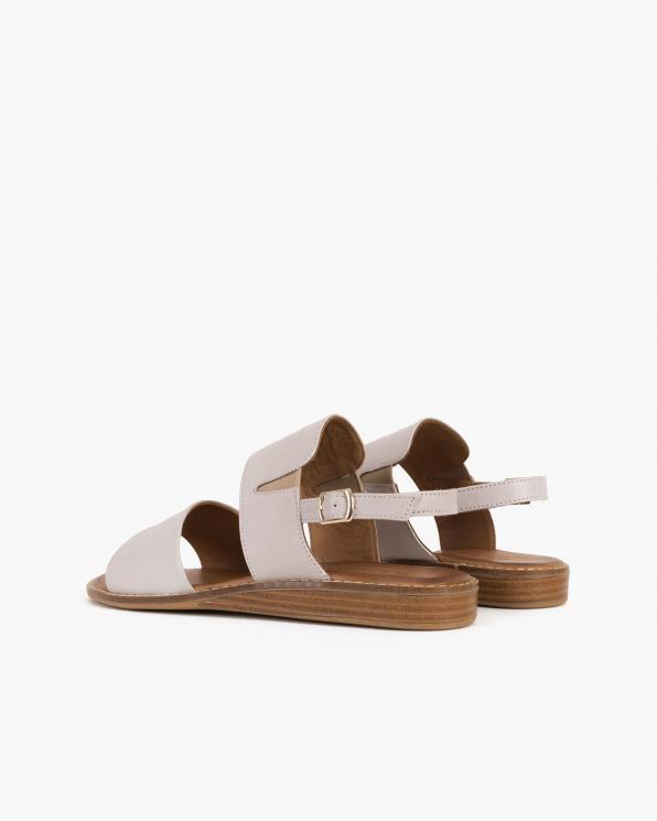 Beżowe sandały damskie skórzane  086-2372-084