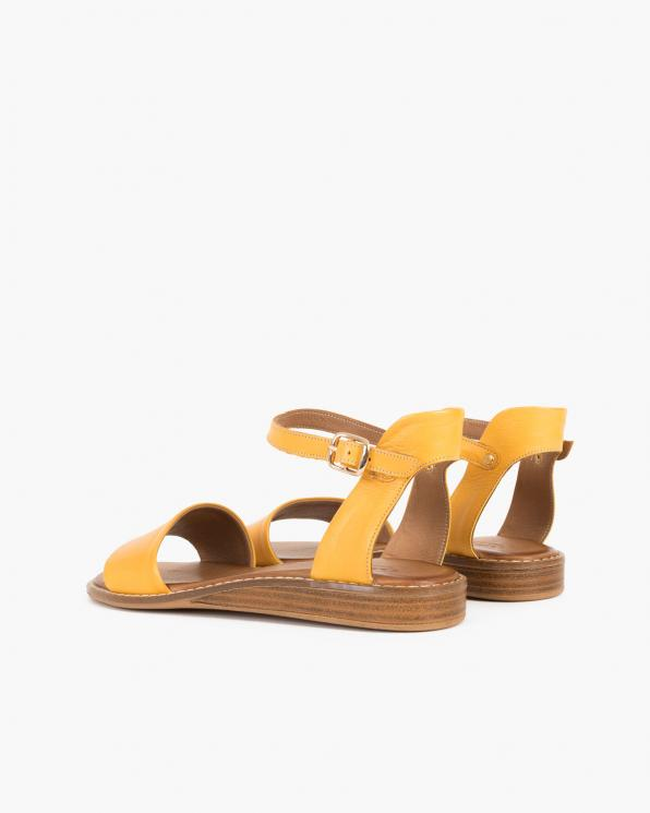 Żółte sandały damskie skórzane  086-2350-085