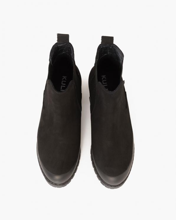 Czarne botki nubukowe  089-2681-CZ-NUBU