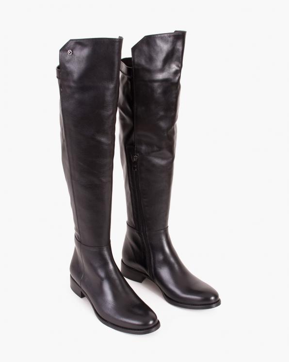 Czarne kozaki damskie skórzane  005-507-200-LICO