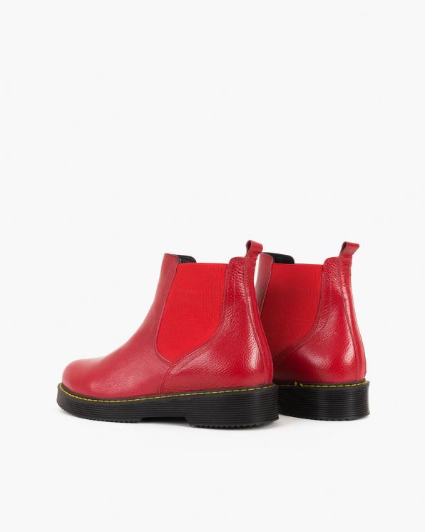 Czerwone sztyblety damskie skórzane  086-3390-CZERW