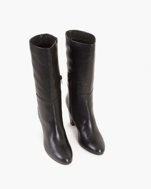 Czarne kozaki damskie skórzane  091-572-004-CZAR