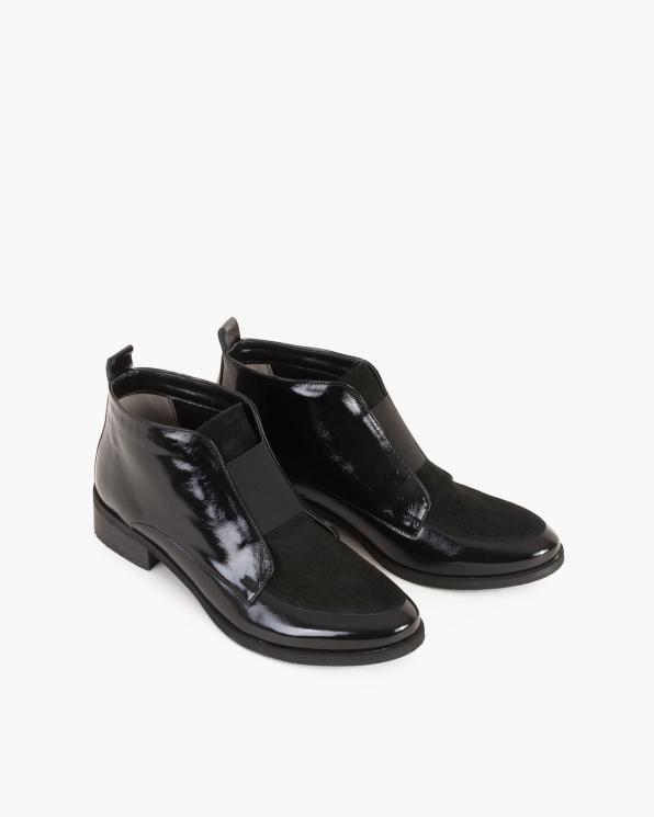 Czarne botki lakierowane  057-801-CZARNY