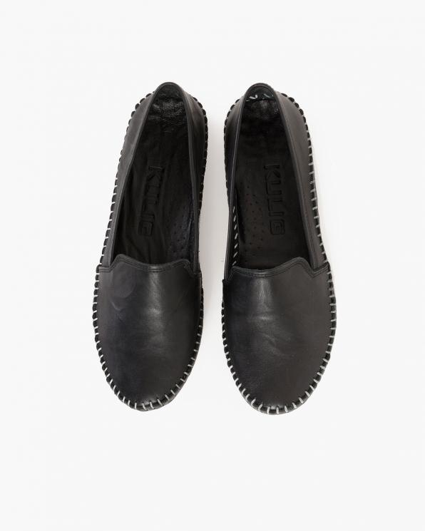 Czarne mokasyny damskie skórzane  097-427-CZARNY