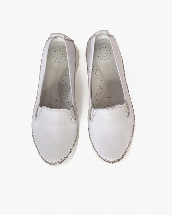 Białe mokasyny damskie skórzane  097-0435-BIAŁY