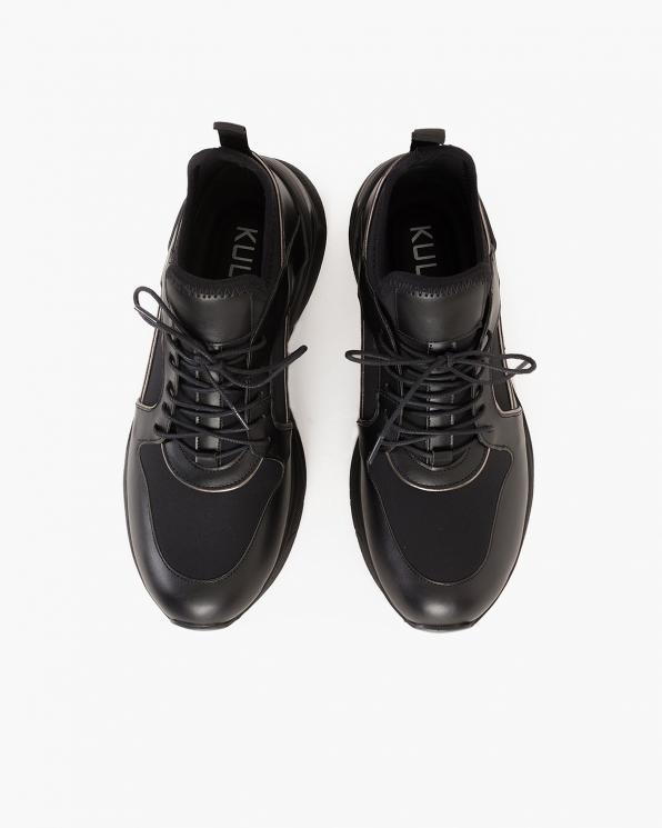 Czarne sneakersy skórzane  083-129-CZARNE