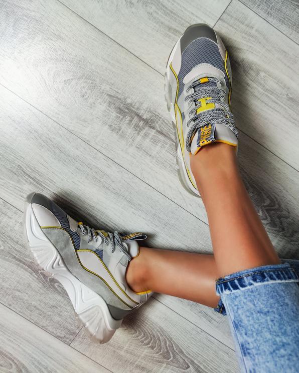 Szare sneakersy z siatką  083-103-SZARY
