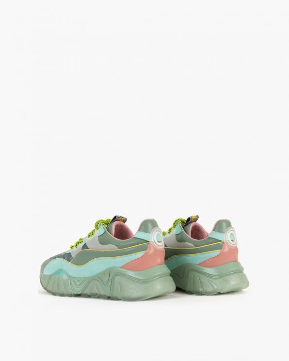 Wielokolorowe sneakersy z siatką  083-103-KOLOROWE