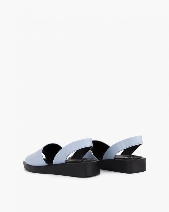 Błękitne sandały damskie skórzane  108-685-NIEBIESK