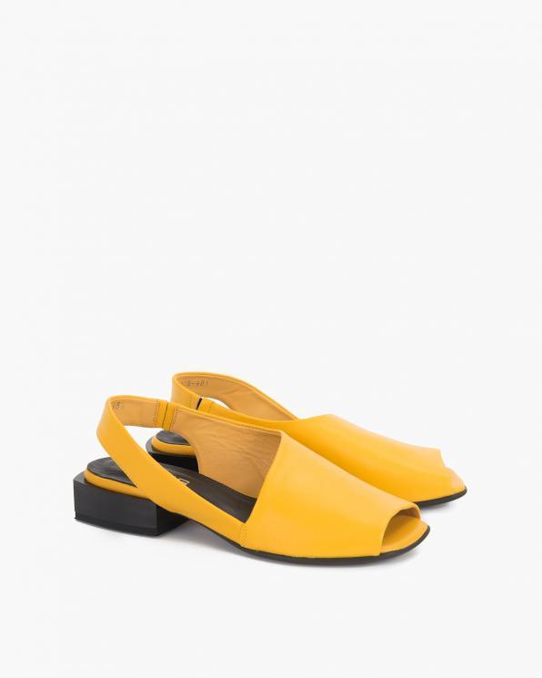 Żółte sandały damskie skórzane  108-204-ŻÓŁTY