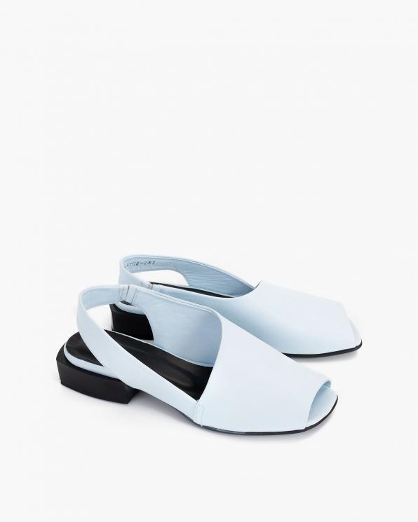 Błękitne sandały damskie skórzane  108-204-NIEBIESK