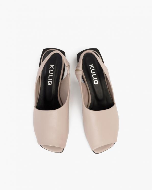 Beżowe sandały damskie skórzane  108-204-CAPUCCIN